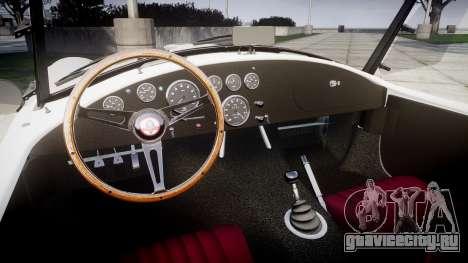 AC Cobra 427 PJ3 для GTA 4 вид изнутри