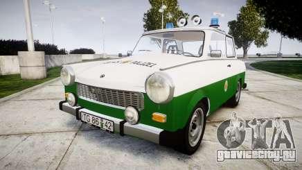 Trabant 601 deluxe 1981 Police для GTA 4