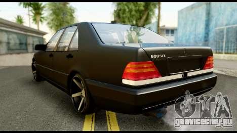 Mercedes-Benz 600SEL для GTA San Andreas вид слева