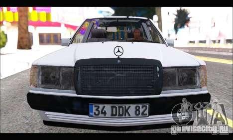 Mercedes Bad-Benz 190E (34 DDK 82) для GTA San Andreas вид слева