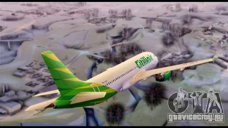 Citilink Airbus A320 PK-GLV для GTA San Andreas вид сзади слева