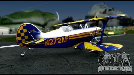 Alabeo PITTS S2S Blue для GTA San Andreas вид слева