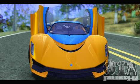 Grotti Turismo R v2 (GTA V) (IVF) для GTA San Andreas вид сзади