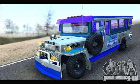 Light Jeepney для GTA San Andreas вид слева