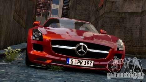 Mercedes-Benz SLS AMG 2011 [EPM] для GTA 4 вид сзади