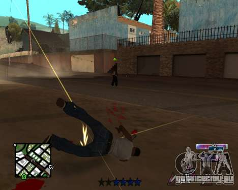 COSMOS C-HUD для GTA San Andreas третий скриншот