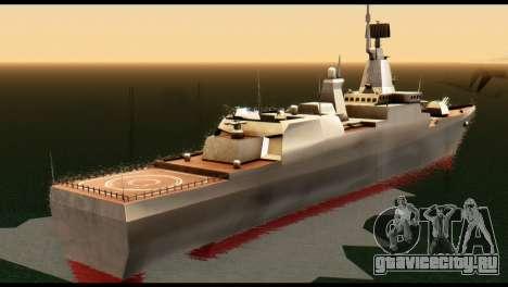 Admiral Sergey Gorshkov для GTA San Andreas вид сзади слева