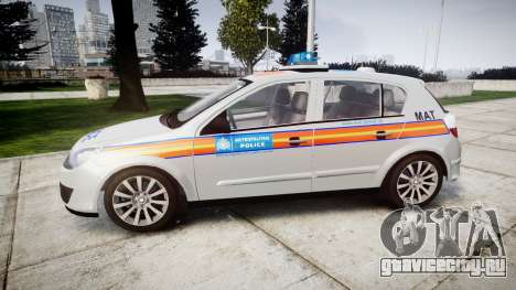Vauxhall Astra 2005 Police [ELS] Britax для GTA 4 вид слева