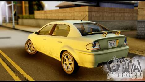 DeClasse Premier from GTA 5 для GTA San Andreas вид слева