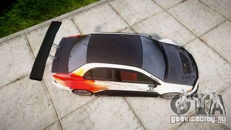 Mitsubishi Lancer Evolution IX HQ для GTA 4 вид справа