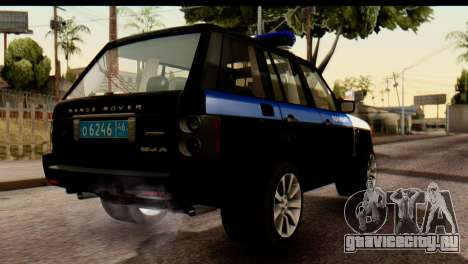 Land Rover ДПС для GTA San Andreas вид сзади