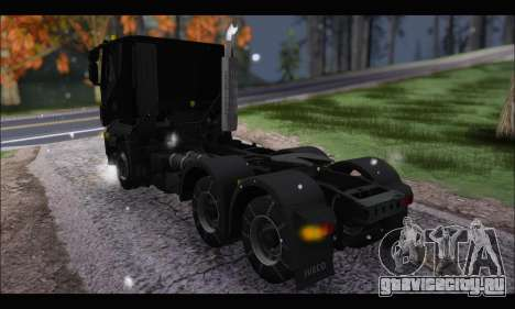 Iveco Trakker 2014 Snow (IVF & ADD) для GTA San Andreas вид сзади слева