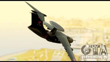 Beriev A-50 Russian Air Force для GTA San Andreas вид слева