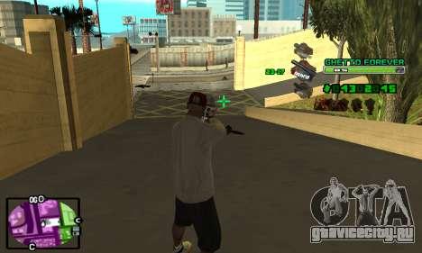 C-HUD Ghetto 4ever для GTA San Andreas четвёртый скриншот