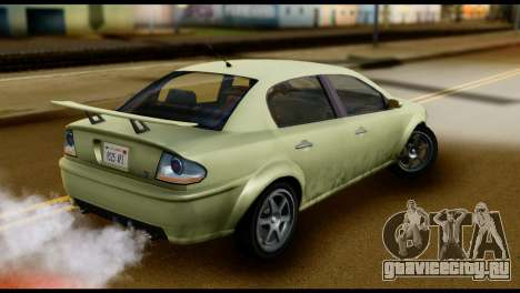 DeClasse Premier from GTA 5 для GTA San Andreas вид сзади слева