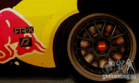 Ford Mustang RTR RedBull для GTA San Andreas вид сзади