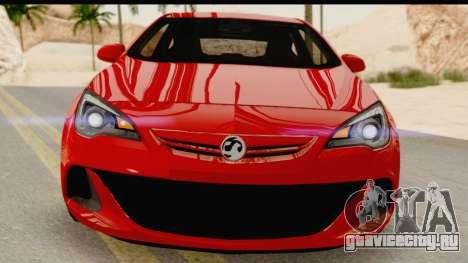 Vauxhall Astra VXR для GTA San Andreas вид сзади