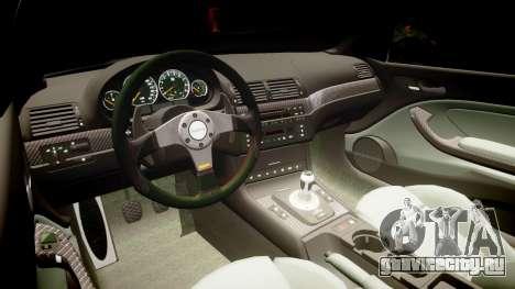 BMW E46 M3 для GTA 4 вид сзади