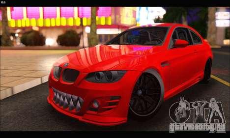 BMW M3 GTS 2010 для GTA San Andreas вид сзади