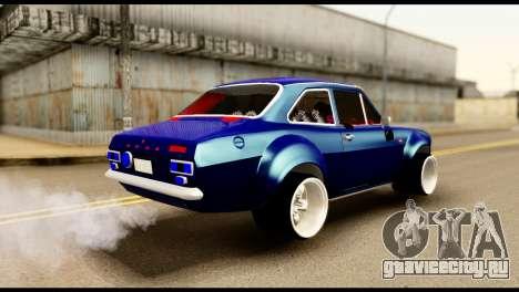 Ford Escort MK1 Modifive для GTA San Andreas вид сзади слева
