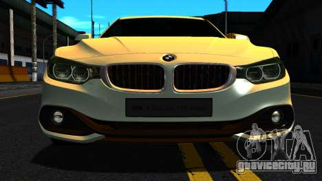 BMW 4-series F32 Coupe 2014 Vossen CV5 V1.0 для GTA San Andreas вид сзади