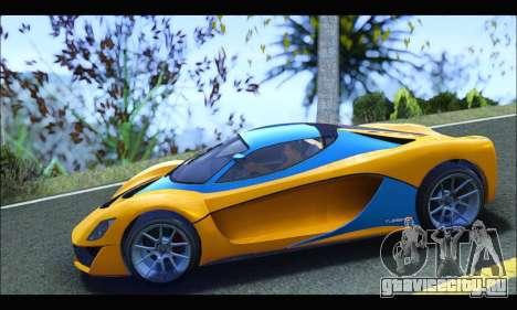 Grotti Turismo R v2 (GTA V) (IVF) для GTA San Andreas вид слева