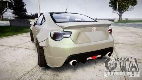 Toyota GT-86 RocketBunny для GTA 4 вид сзади слева