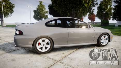 Pontiac GTO 2006 17in wheels для GTA 4 вид слева
