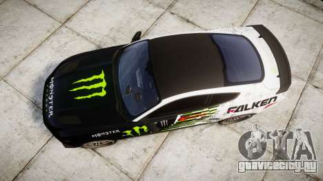Ford Mustang GT 2015 Custom Kit monster energy для GTA 4 вид справа