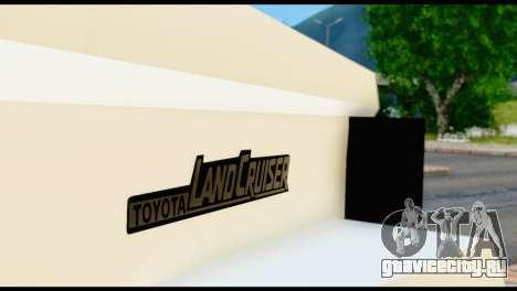 Toyota Land Cruiser Macho Pick-Up 2007 4.500 для GTA San Andreas вид сзади