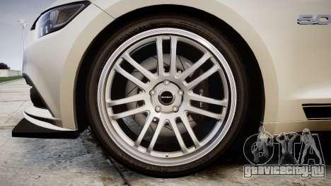 Ford Mustang GT 2015 Custom Kit black stripes gt для GTA 4 вид сзади
