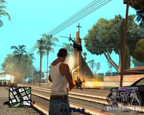 COSMOS C-HUD для GTA San Andreas второй скриншот