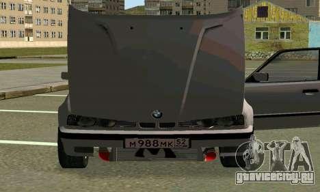 BMW 525 Turbo для GTA San Andreas вид сверху