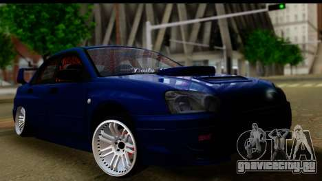Subaru Impreza для GTA San Andreas вид справа