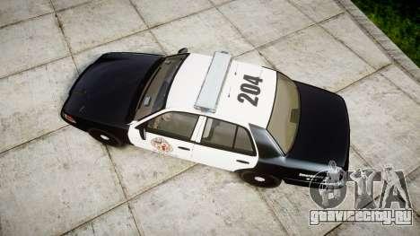Ford Crown Victoria LAPD [ELS] для GTA 4 вид справа