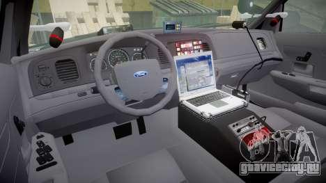 Ford Crown Victoria Highway Patrol [ELS] Liberty для GTA 4 вид сзади