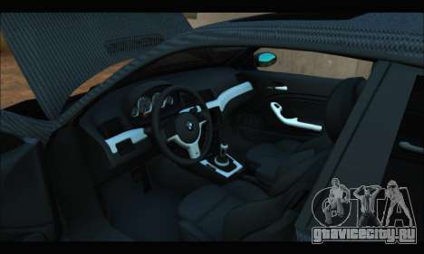 BMW M3 E46 Carbon для GTA San Andreas вид справа