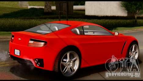 GTA 5 Dewbauchee Rapid GT Coupe [IVF] для GTA San Andreas вид сзади слева