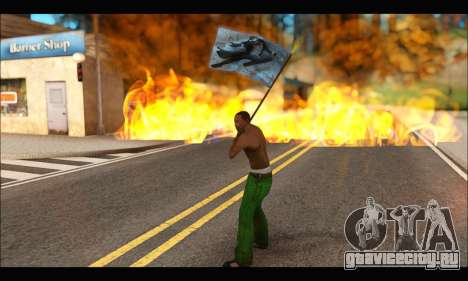 Flag Spiderman Noir для GTA San Andreas четвёртый скриншот