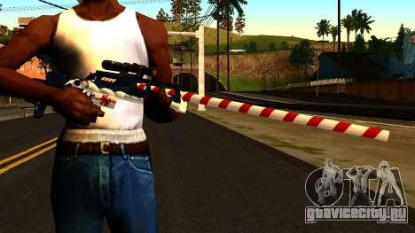 Новогодняя Снайперская Винтовка для GTA San Andreas третий скриншот