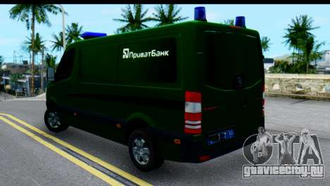 Mercedes-Benz Sprinter ПриватБанк для GTA San Andreas вид слева