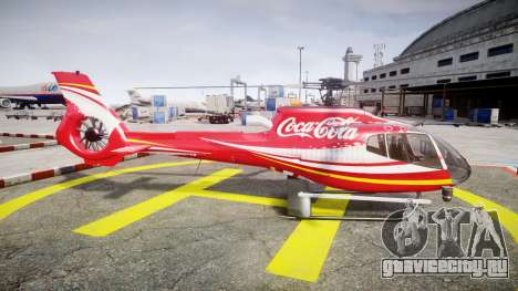 Eurocopter EC130 B4 Coca-Cola для GTA 4 вид слева