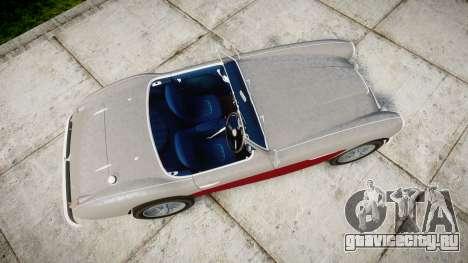 Austin-Healey 100 1959 для GTA 4 вид справа