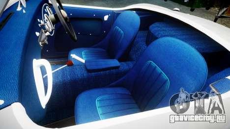 Austin-Healey 100 1959 для GTA 4 вид изнутри