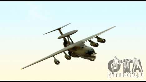 Beriev A-50 Russian Air Force для GTA San Andreas вид сзади слева