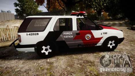 Chevrolet Blazer 2010 Tactical Force [ELS] для GTA 4 вид слева