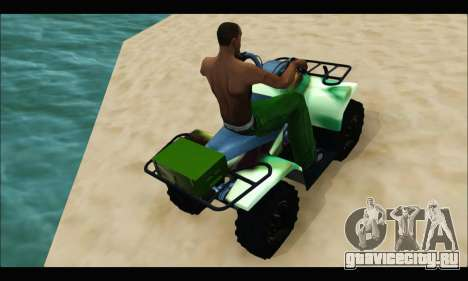 ATV Army Edition для GTA San Andreas вид справа