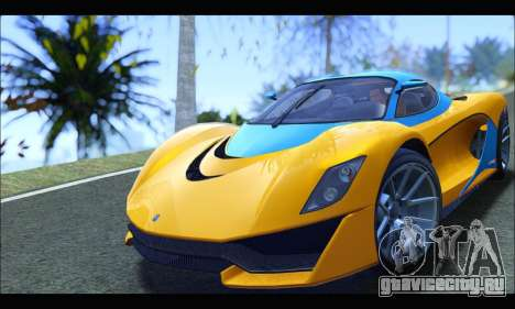 Grotti Turismo R v2 (GTA V) (IVF) для GTA San Andreas