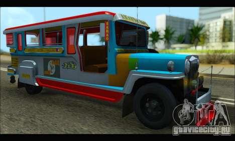 Jeepney Legacy для GTA San Andreas