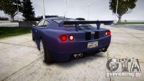 Dewbauchee Super GT Tuning v3.0 для GTA 4 вид сзади слева